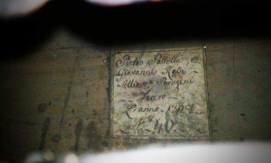 Bassetto a 3 corde Pietro Pallotta e Giovanni Rossi Perugia 1808 - Prima
